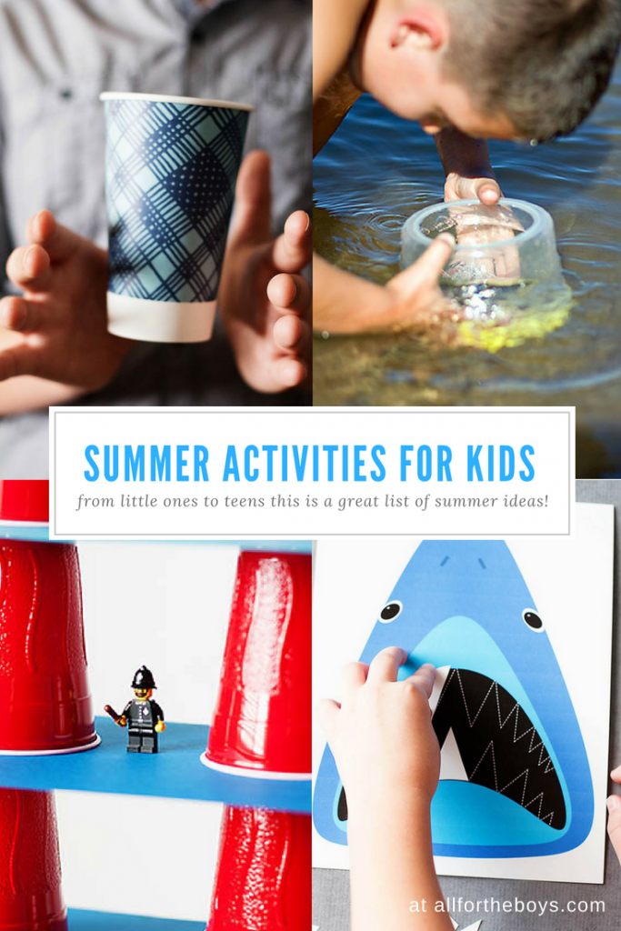 This is a great list of summer activities and ideas for kids of all ages - even teens!