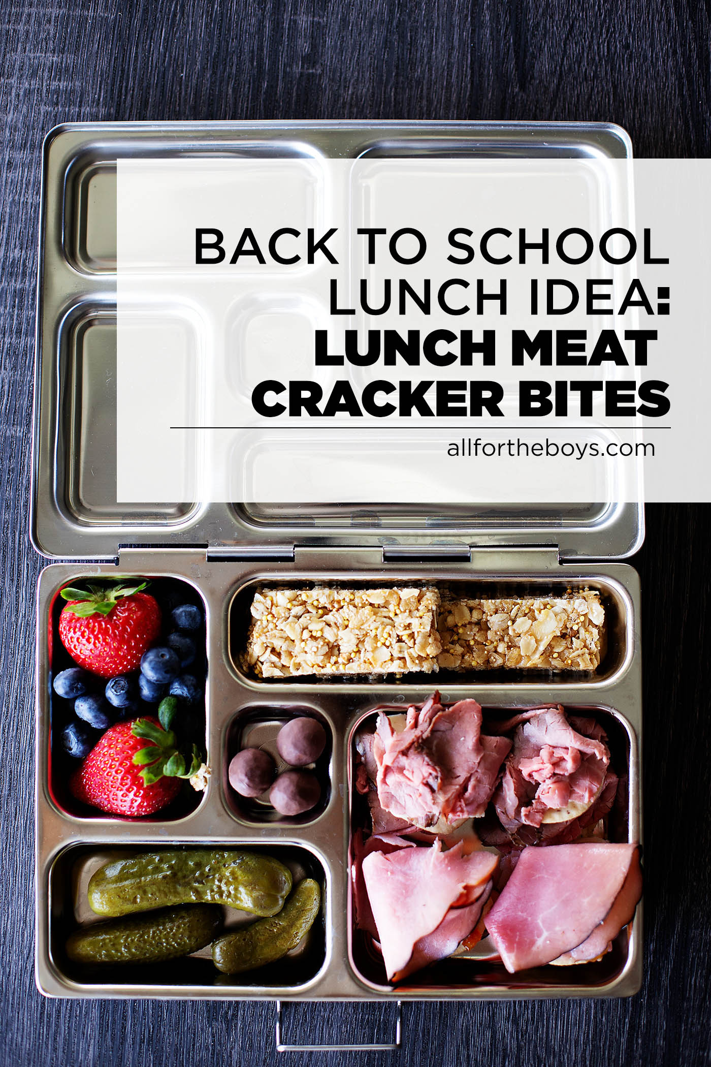 Back to school lunch idea: lunch meat cracker bites!