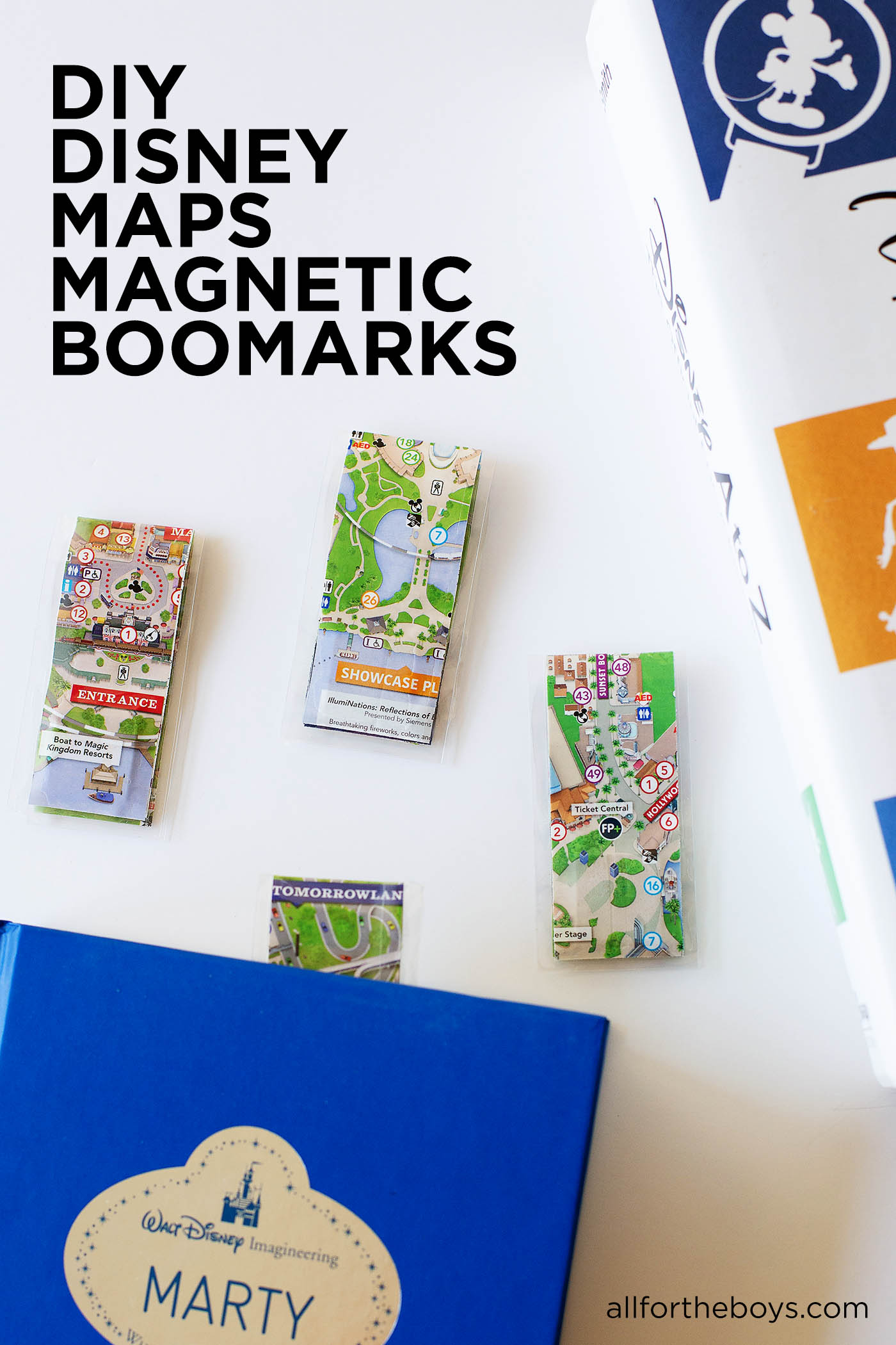 DIY Disney Map Magnetic Bookmark