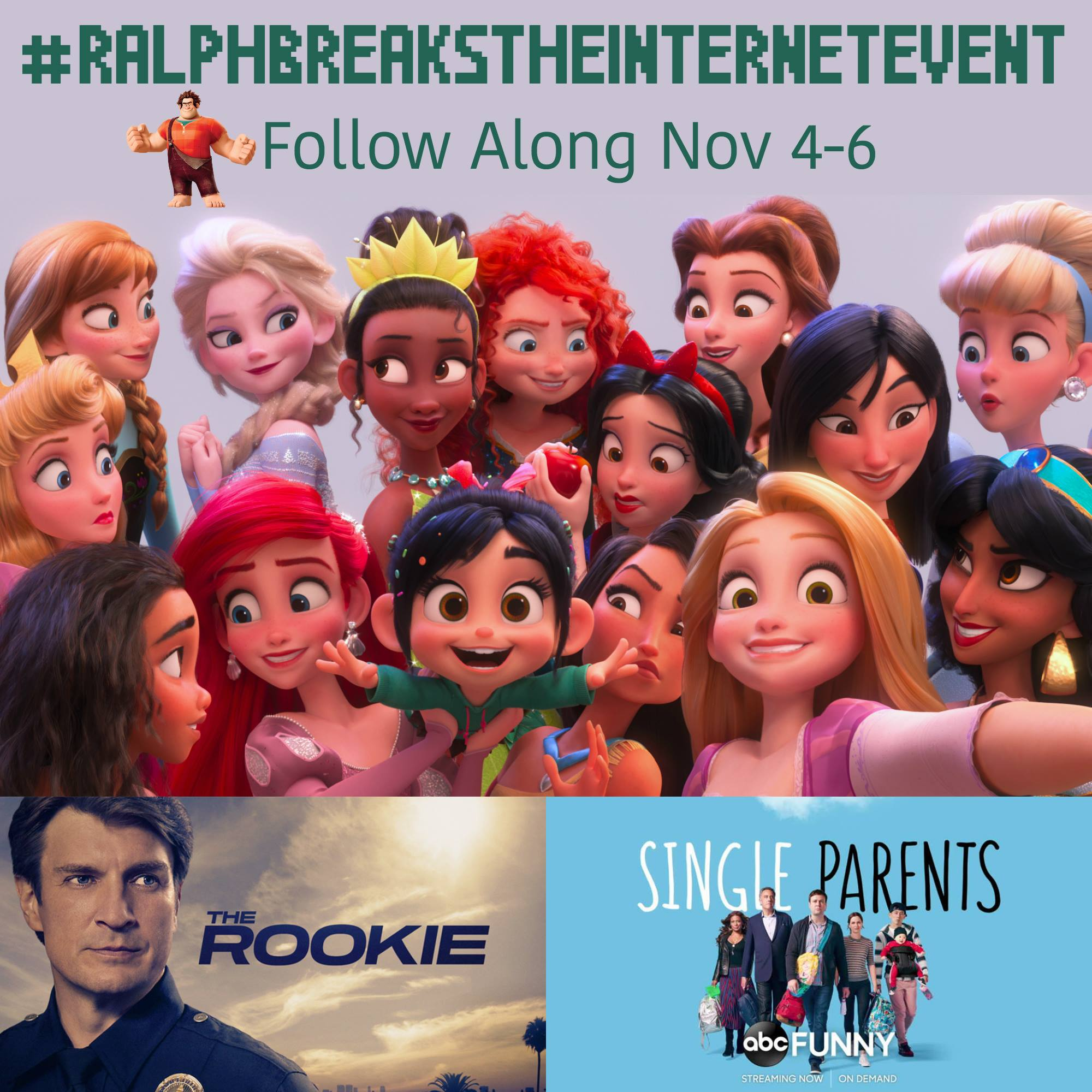 The #RalphBreakstheInternetEvent where bloggers get a chance to walk the red carpet for the premiere, attend exclusive events, and go behind the scenes for new ABC shows Single Parents and The Rookie