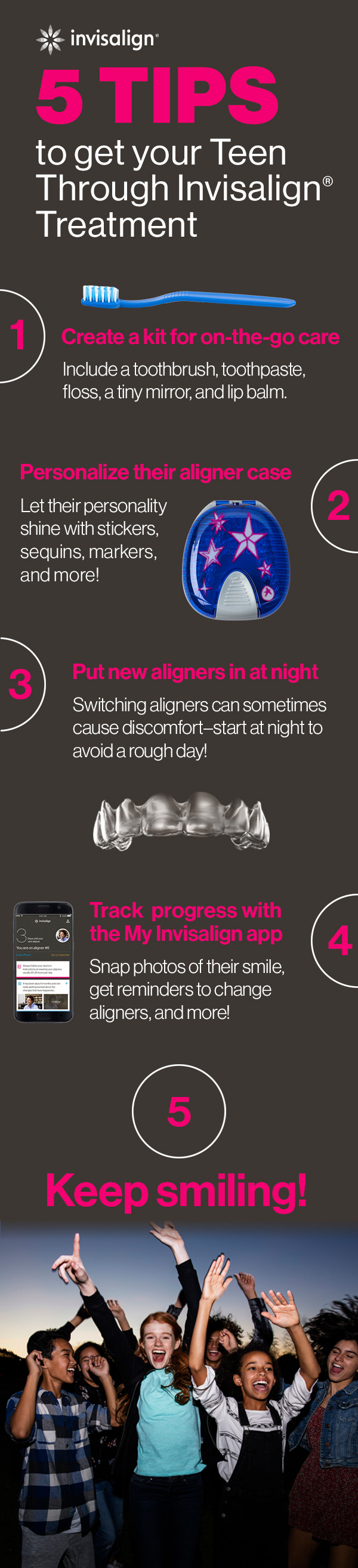 5 tips to get your teen through Invisalign Treantment