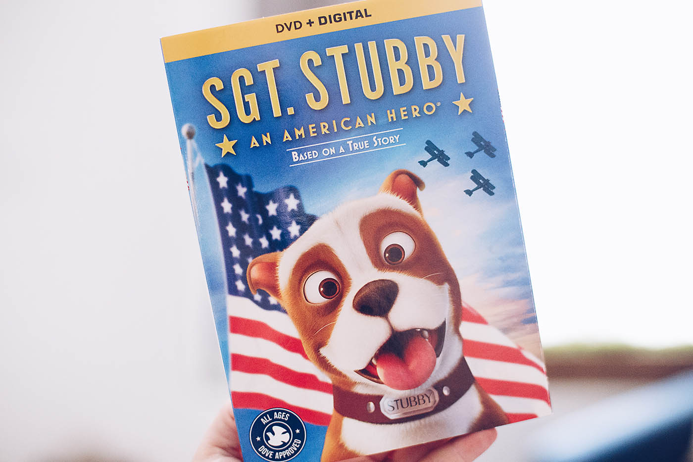 Sgt. Stubby on Blu-ray + printable activity pack