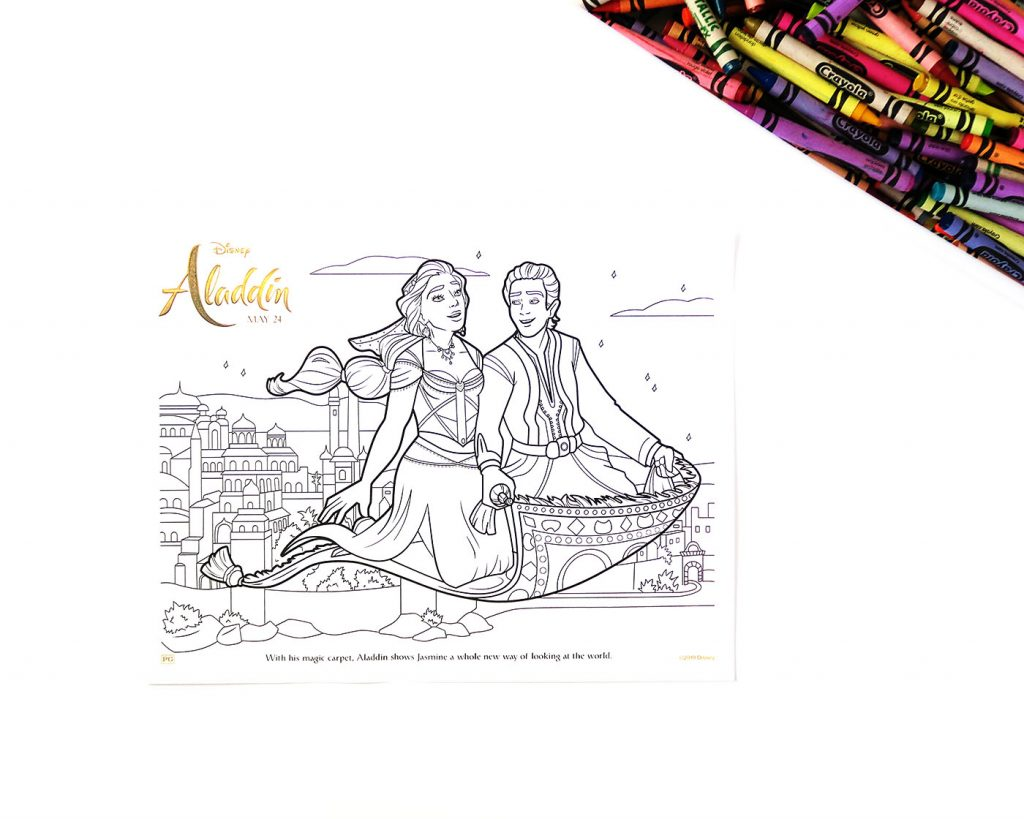 Aladdin Printable coloring pages and activities