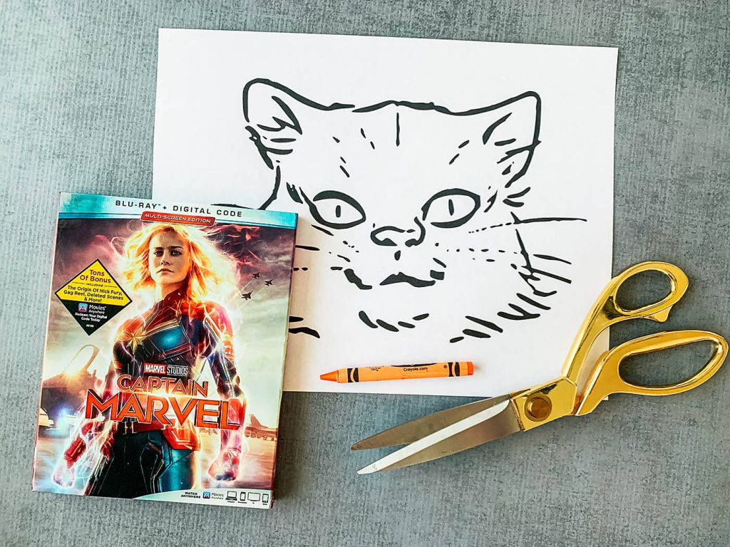 Captain Marvel Goose the Cat puppet DIY