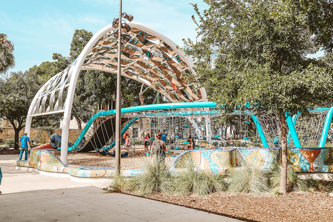 Play structure at park in San Antonio