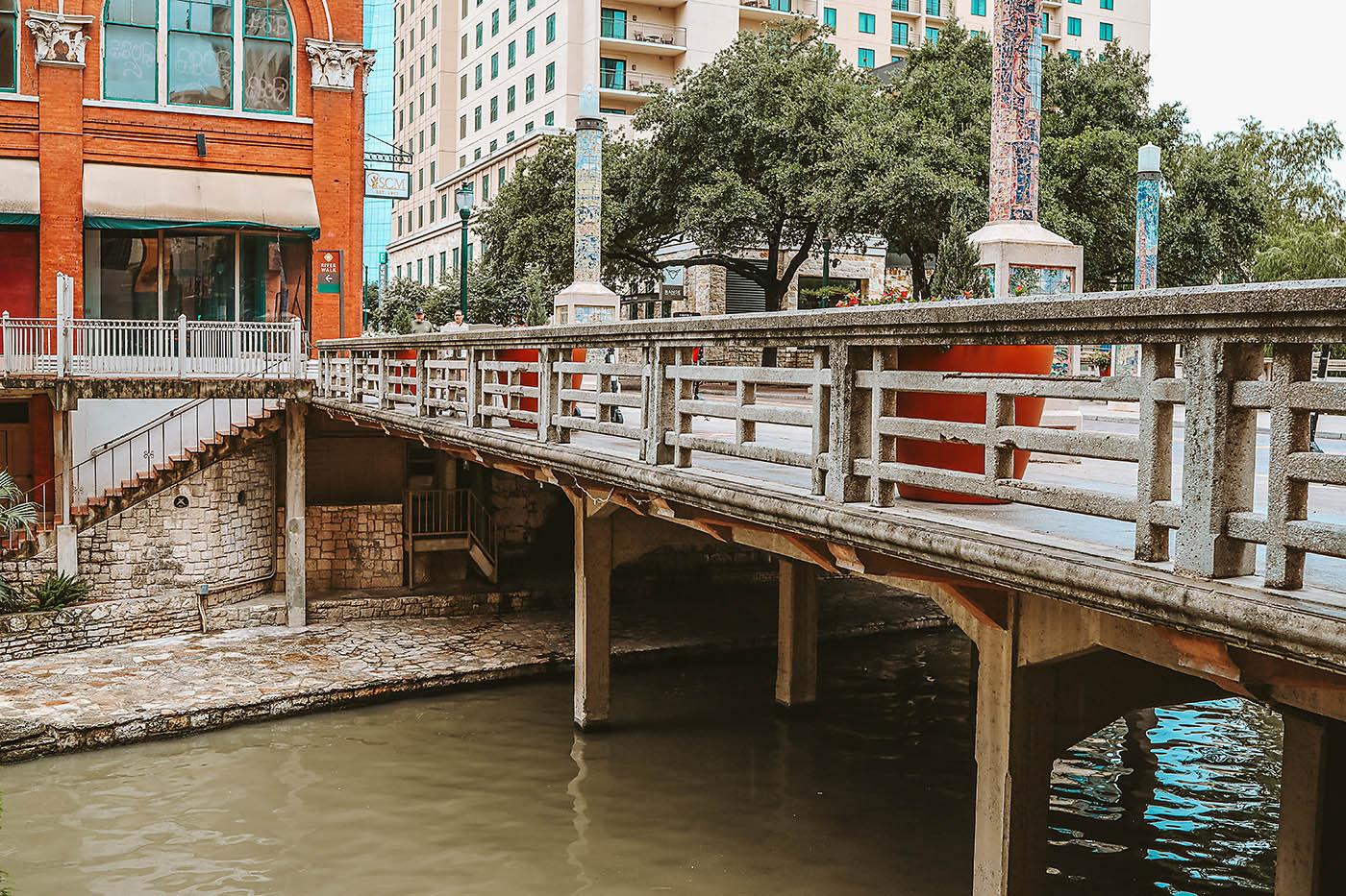 View of San Antonio Riverwalk from hotel