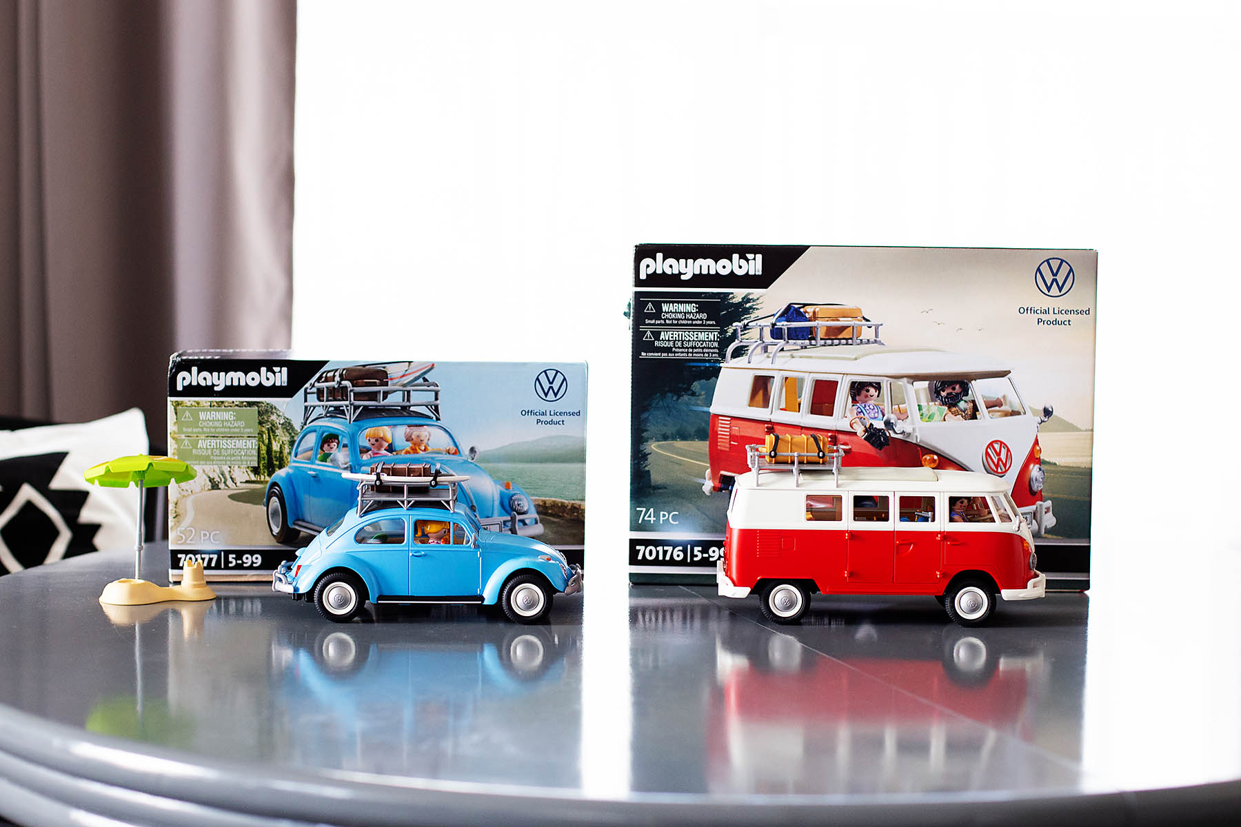 New Volkswagen Beetle and T1 Camping Bus PLAYMOBIL playsets